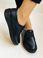 Стильные женские туфли- слипоны. Натуральная кожа. Темно-синий. Турция. р. 36, 37, 39 Vellena, фото 4
