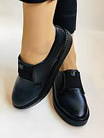 Стильні жіночі туфлі - сліпони. Натуральна шкіра. Темно-синій. Туреччина. р. 36, 37, 39 Vellena, фото 6