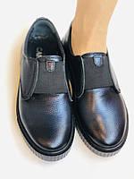 Стильні жіночі туфлі - сліпони. Натуральна шкіра. Темно-синій. Туреччина. р. 36, 37, 39 Vellena, фото 9