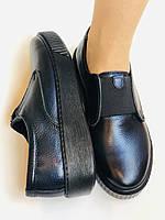 Стильні жіночі туфлі - сліпони. Натуральна шкіра. Темно-синій. Туреччина. р. 36, 37, 39 Vellena, фото 7