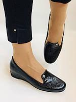 Хіт! Жіночі туфлі на низькій танкетці .Натуральна лакована шкіра.Туреччина. Висока якість 37,39, фото 3