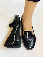 Хіт! Жіночі туфлі на низькій танкетці .Натуральна лакована шкіра.Туреччина. Висока якість 37,39, фото 10