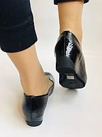 Хіт! Жіночі туфлі на низькій танкетці .Натуральна лакована шкіра.Туреччина. Висока якість 37,39, фото 6
