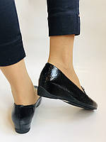 Хіт! Жіночі туфлі на низькій танкетці .Натуральна лакована шкіра.Туреччина. Висока якість 37,39, фото 4