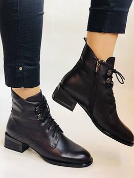 Molka. Женские осенние ботинки. На среднем каблуке. Натуральная кожа. Бордовый.  Размер 41