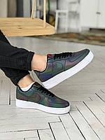 Кроссовки женские Nike Air Force 1 Reflective Low. Кроссы для женщин Найк Аир Форс 1 Лоу полный рефлектив