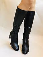 Женские осенне-весенние сапоги на среднем каблуке. Натуральная кожа.Высокое качество. Р 37.38.40 Polann, фото 10