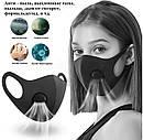 "Захисна маска-респіратор від вірусів ""Activated Carbone Mask"", багаторазова, фото 2"