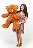 Великий плюшевий ведмедик, ведмідь Томмі 100см шоколадний