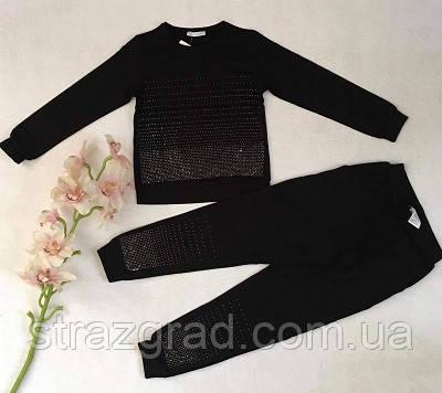 Стильный костюм детский и подростковый Со стразами Цвет Черный Рост 128-164см