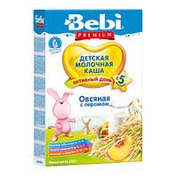 Bebi Premium молочная каша - Овсяная c персиком 250г.