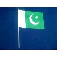 Прапорець Пакистану 14х21см на пластиковому флагштоку