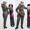 Женский горнолыжный комбинезон с натуральным мехом енота сумка в комплекте