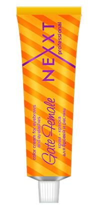 Крем-краска для бровей и ресниц Черная Nexxt Professional Color Cream For Eyebrows and Eyelashes Gate Female