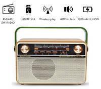 Радиоприёмник Ретро Kemai MD-505BT W с пультом ДУ (Bluetooth/USB/Аккумулятор/220W), фото 1