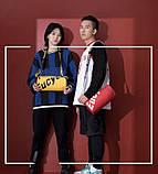 Маленькая черная спортивная сумка круглая женская, мужская, детская с длинным регулируемым ремешком, фото 7