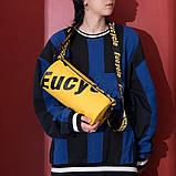 Маленькая черная спортивная сумка круглая женская, мужская, детская с длинным регулируемым ремешком, фото 6