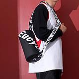 Маленькая черная спортивная сумка круглая женская, мужская, детская с длинным регулируемым ремешком, фото 2
