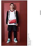 Маленькая черная спортивная сумка круглая женская, мужская, детская с длинным регулируемым ремешком, фото 8