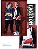 Маленькая черная спортивная сумка круглая женская, мужская, детская с длинным регулируемым ремешком, фото 10