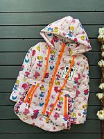 Модная куртка на девочку Микки рост 104-128