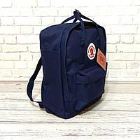 Модний рюкзак, сумка Fjallraven Kanken Classic, канкен класік. Темно-синій + органайзер в подарунок!, фото 4