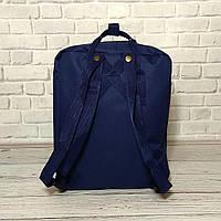 Модний рюкзак, сумка Fjallraven Kanken Classic, канкен класік. Темно-синій + органайзер в подарунок!, фото 7