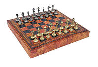 Шахматы и шашки с эко-кожи 65M+218MAP