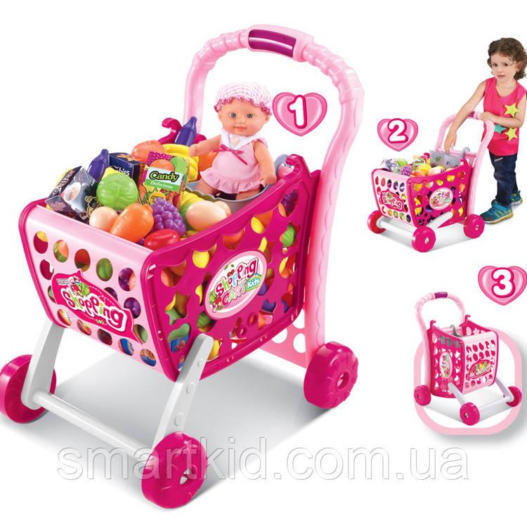 """Набір ігровий """"Візок для супермаркету"""" з продуктами"""