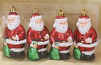 Набор елочных украшений (4шт) Санта, 9см