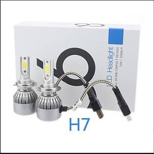Комплект LED ламп для авто Ближний/Дальний Headlight C6 H7, светодиодные лампы в авто, передний свет, фото 2
