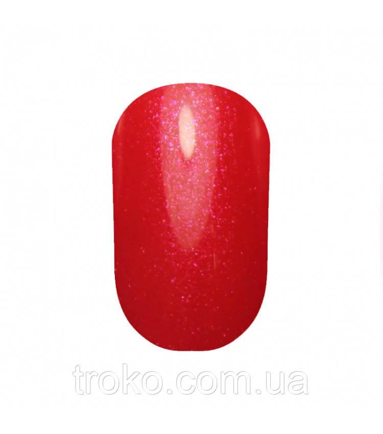 Гель-лак Oxxi №023 красно-малиновый с микроблеском 10 мл