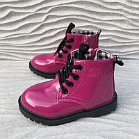 Детские лаковые ботинки Dr Martens мартинсы деми, размеры 23-25