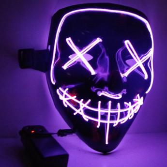 Неоновая Маска Судная Ночь Led Mask Светящаяся Маска