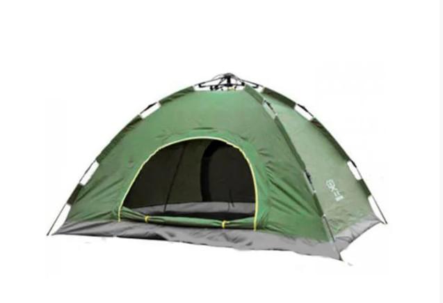 Палатка С Автоматическим Каркасом 4-х Местная Зеленая Палатка Размер 2x2 Метра sale