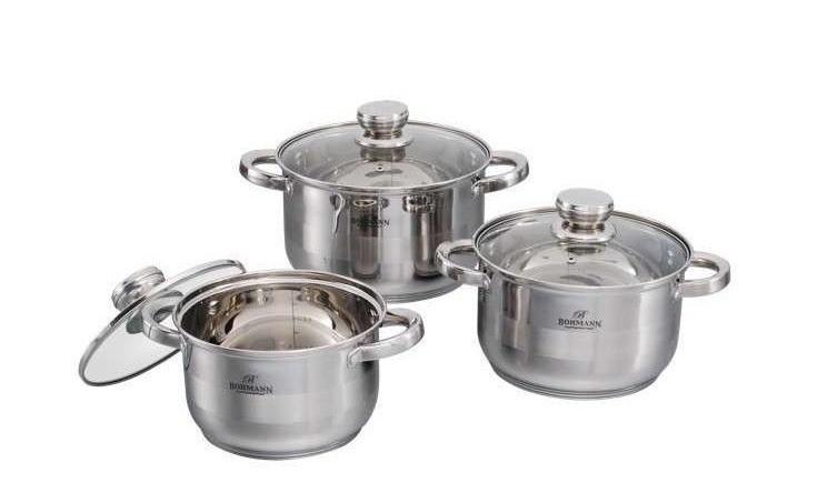 Набор Посуды Нержавеющей Из Стали Bohmann ВН 06 375