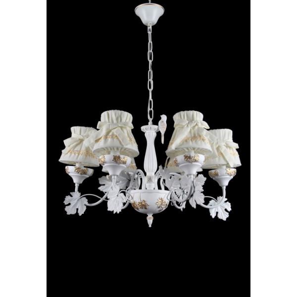 Люстра с абажуром подвесная в стиле прованс для спальни Splendid-Ray 30-3436-32
