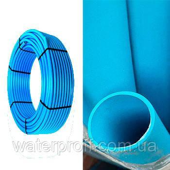 Труба ПЕ-100 Blue синя 40 PN10 Veco