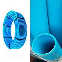 Труба ПЭ-100 Blue синяя 25 PN10 Veco