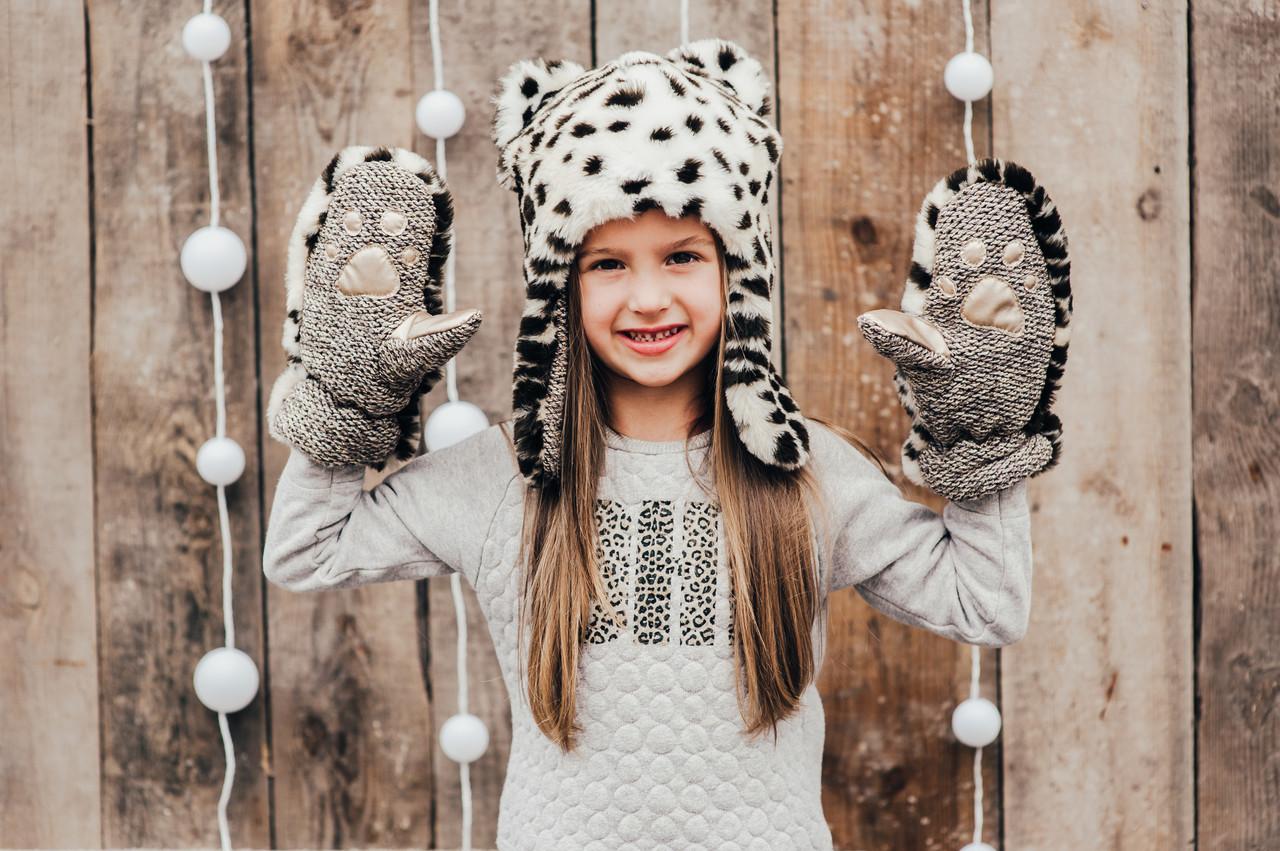 Детская шапка зимняя для девочек РОНДА (набор) оптом размер 52-54