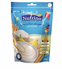 """Каша суха молочна швидкорозчинна манка з бананом 200г ТМ """"NUTRINO"""" з 6 місяців."""