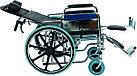 Инвалидная коляска многофункциональная с санитарным оснащением Golfi-4 Ортопедическая подушка для коляски в ПОДАРОК., фото 2