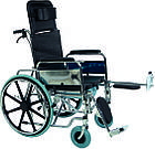 Инвалидная коляска многофункциональная с санитарным оснащением Golfi-4 Ортопедическая подушка для коляски в ПОДАРОК., фото 6