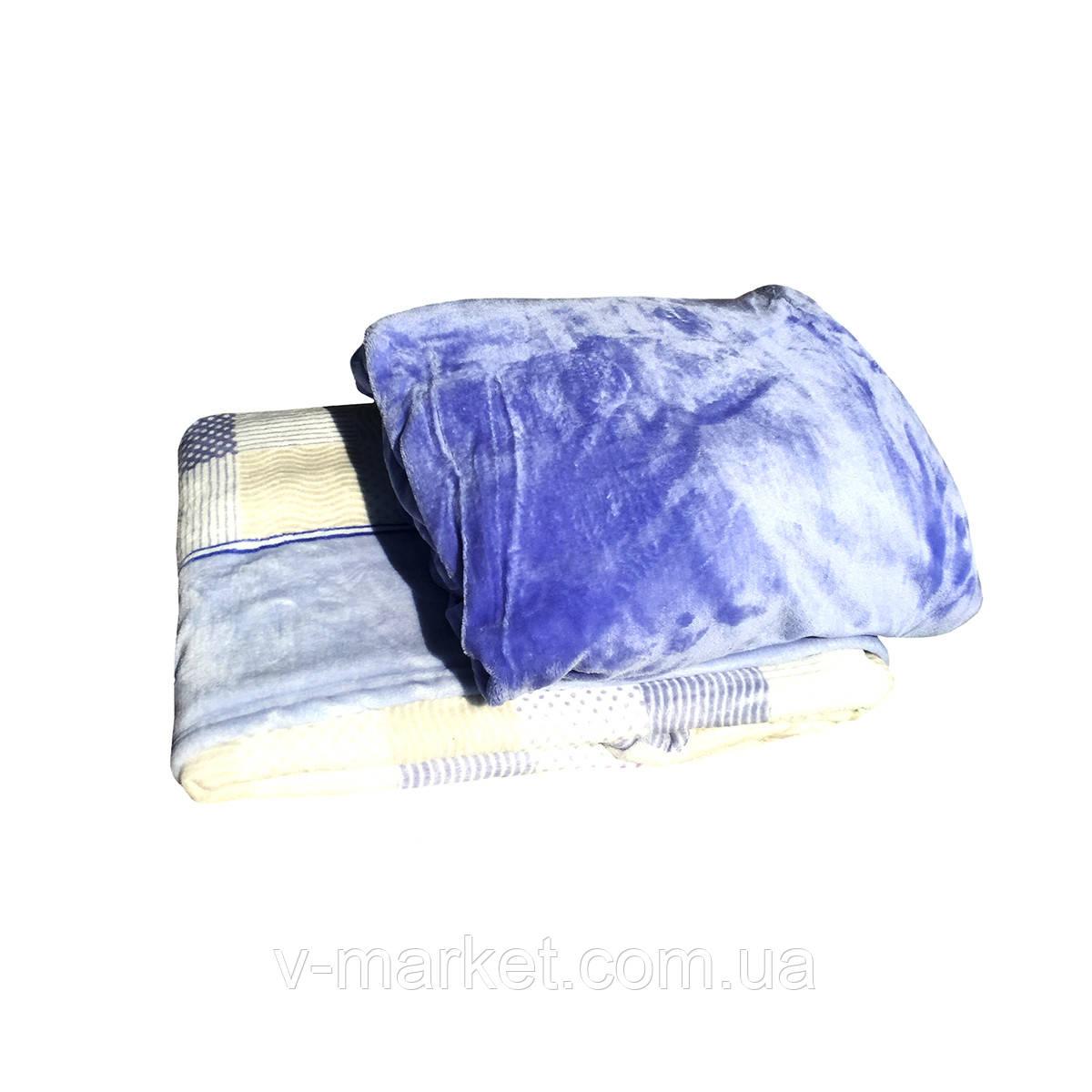 Набор простынь на резинке (105/200 см) с пледом (180/260 см), ткань микрофибра