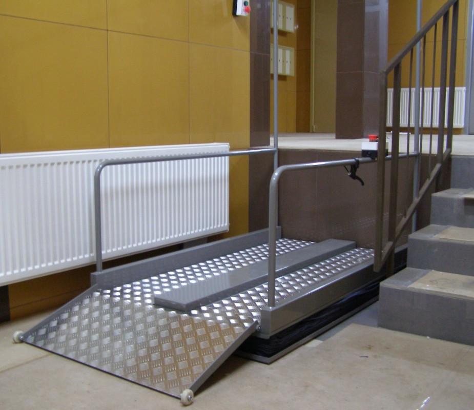 Площадка подъемная с вертикальным перемещением для инвалидов модели ППН-1