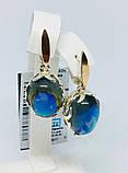 Срібні сережки з каменем опал Луїзіана, фото 2