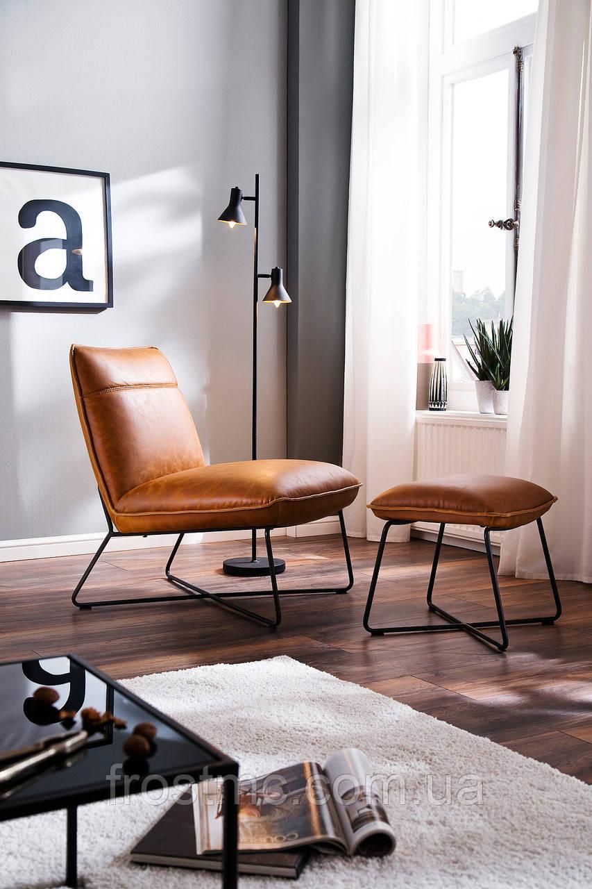 Крісло WASHINGTON Relax Chair vintage коньяк