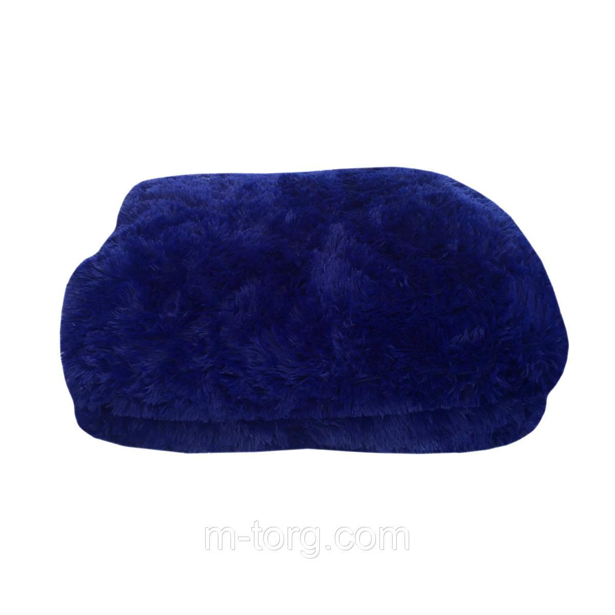 """""""синий"""" пушистый плед - одеяло """"травка"""" евро размер 210*230 см, наполнитель силикон"""