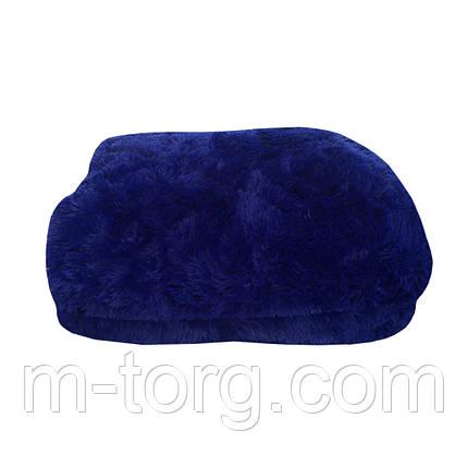 """""""синий"""" пушистый плед - одеяло """"травка"""" евро размер 210*230 см, наполнитель силикон, фото 2"""