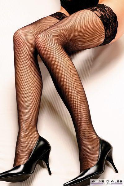 Чулки Anne De Ales CAMILLA T4 Black (мятая упаковка) Bomba💣